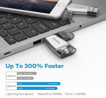 USB 3.0 Memory Stick 32GB In Chrome Effect