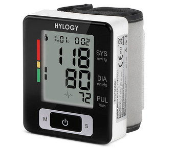 Large View LCD Blood Pressure Monitor In Black