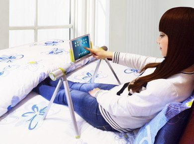 Solid Lightweight Tablet Stand For Bed With 4 Legs