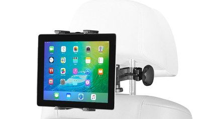 Collapsible Car Tablet Headrest Mount Clamped On Pole