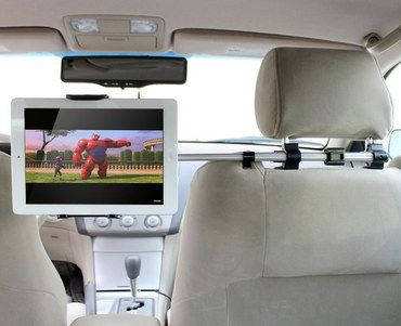 Pivoting Tablet Holder For Car Backseat In Between Seats