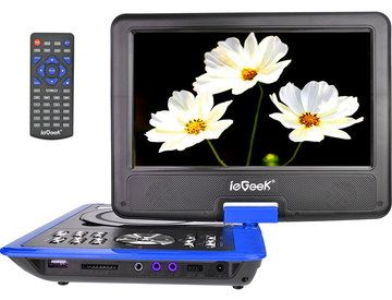 Big Cheap Portable DVD Player With Black Remote