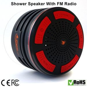 Bluetooth Shower Radio Speaker In Black Plastic Finish