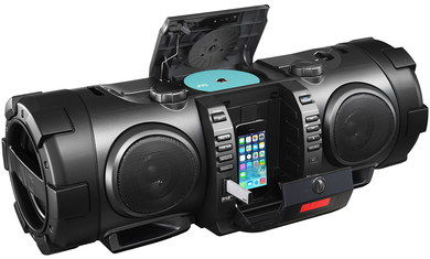 Boom Blaster DAB iPhone Dock CD Player In All Black