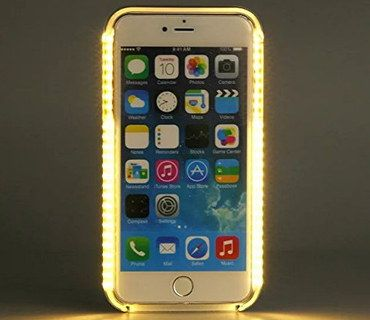 Smartphone LED Light Up IPhone 5S Case With Gold Effect