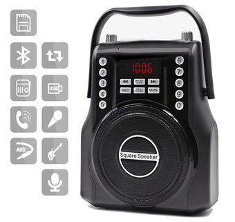 Bluetooth FM Radio Speaker With Black Handle