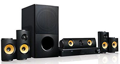 Multi Room 5.1 Home Theatre Speaker System Lined Up