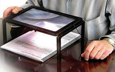 Reading Magnifier Rectangular Light