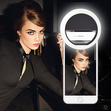 Clip Type LED Selfie Phone Ring Light On White Mobile  sc 1 st  Mobile Gadgets Car USB Wi-Fi & Selfie Ring Lights For Smartphone To Snap Radiant Photos