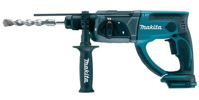 Small Battery Powered Hammer Drill With Black Handle