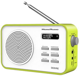 FM DAB Radio Alarm Clock In Green Finish