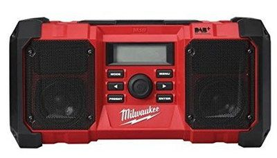 Weather Sealed AUX Site DAB+ Radio In Deep Red