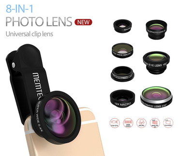 Wide Angle Smartphone Camera Lens Attachments 8 Parts