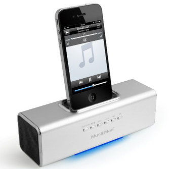 Power Boost Dock Station With CD In Silver Effect