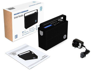 Battery Or Mains DAB Radio With Black Adapter