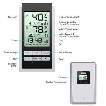 LCD Temperature Gauge With White Press Buttons