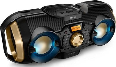 Mp3 Bluetooth Boombox Soundmachine Black, Blue And Gold