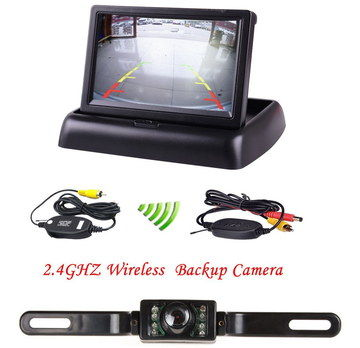 Infra-Red Wireless Car Reverse Camera With Black Cable