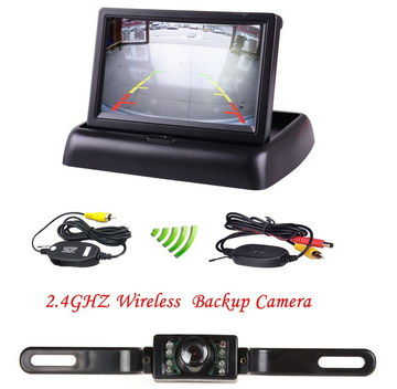 LED Wireless Parking Sensor Kit In Black