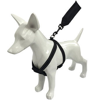 Puppy Seat Belt Harness In Black
