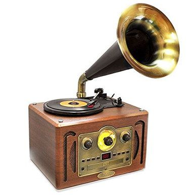 3 Speed Vintage Record Player Phonograph In Wood