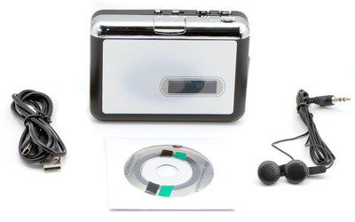 USB Power Tape To CD Conversion Player With Earphones