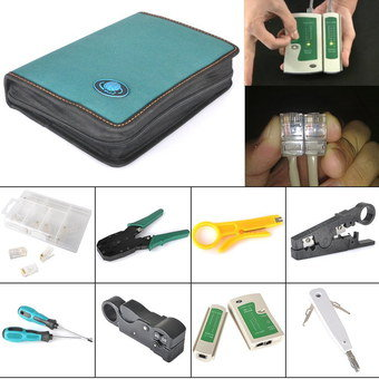 Cable Crimping RJ CAT Network Tester With Cutter