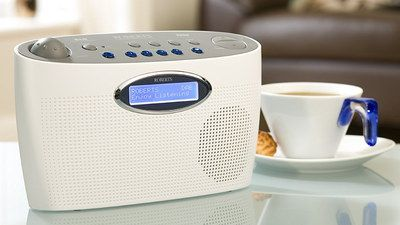 Digital LCD Inexpensive DAB Radio In White