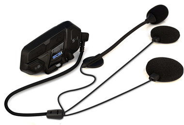 Bluetooth Motorcycle Communication System With Black Earpiece