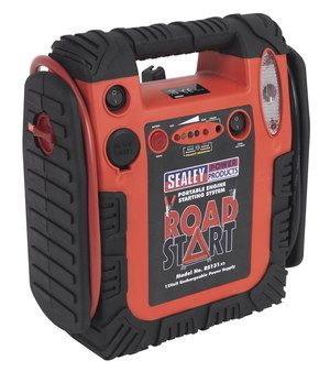 Emergency Car Battery Power Pack In Red Rubber