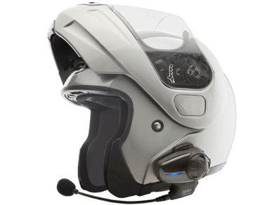 Waterproof Bluetooth Motorcycle Headset Attached To Helmet