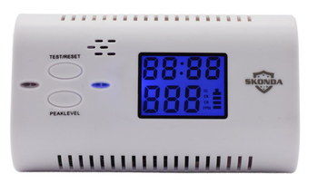 Portable Carbon Monoxide Detector With Blue LED