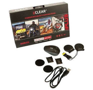 GPS Motorcycle Intercom Headset With Brown Box