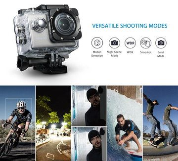Integrated Gyro Sports Action Camera With Cyclist