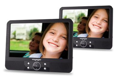 LED Dual Screen Personal DVD Player Black Border