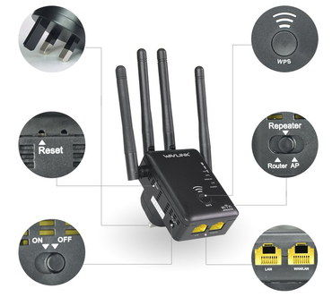 Long Range WiFi Antenna Router With Black Exterior