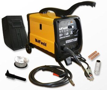 230V MIG Welder Kit In Black And Yellow