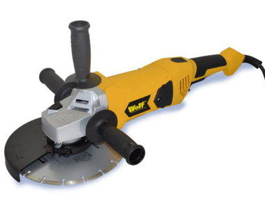 6000 RPM 9 Inch Grinder In Yellow Finish