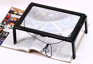 Visually Impaired Magnifier With Black Frame